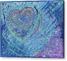 Soft Heart Acrylic Print