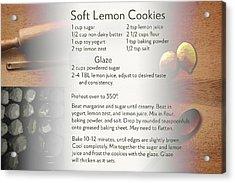 Soft Lemon Cookie Recipe Acrylic Print