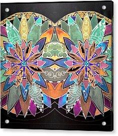 Soft Mandala Acrylic Print by Sandra Lira