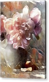 Acrylic Print featuring the mixed media Soft Pastel Peonies by Susan Maxwell Schmidt