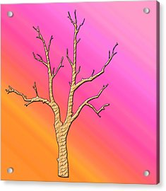 Soft Pastel Tree Abstract Acrylic Print by Aimee L Maher Photography and Art Visit ALMGallerydotcom