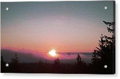 Soft Pink Fog Acrylic Print