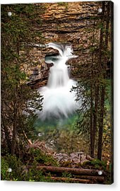 Acrylic Print featuring the photograph Soft Smooth Waterfall by Darcy Michaelchuk