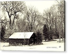 Acrylic Print featuring the photograph Soft Snow Cover by Don Durfee