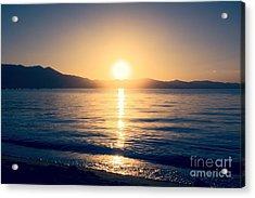 Soft Sunset Lake Acrylic Print