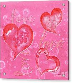 Soft Valentine Acrylic Print by Debbie DeWitt