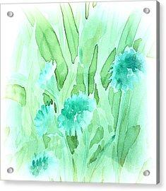 Soft Watercolor Floral Acrylic Print by Judy Palkimas