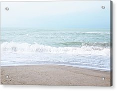 Acrylic Print featuring the mixed media Soft Waves 2- Art By Linda Woods by Linda Woods