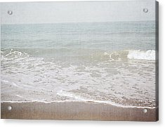 Acrylic Print featuring the mixed media Soft Waves- Art By Linda Woods by Linda Woods
