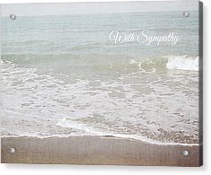 Soft Waves Sympathy Card- Art By Linda Woods Acrylic Print by Linda Woods