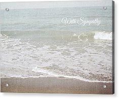 Soft Waves Sympathy Card- Art By Linda Woods Acrylic Print