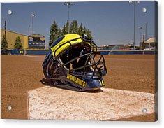 Softball Catcher Helmet Acrylic Print
