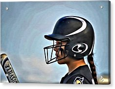 Softball Beauty Girl Acrylic Print