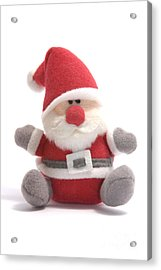Softie Santa Acrylic Print by Andy Smy