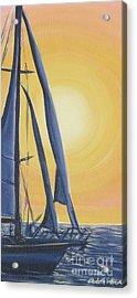 Softly Setting Sun Acrylic Print