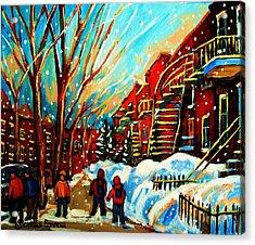Softly Snowing Acrylic Print by Carole Spandau