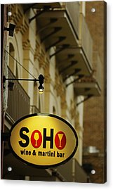 Soho Wine Bar Acrylic Print by Jill Reger