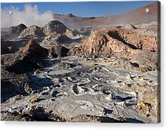 Sol De Manana Geothermal Field  Acrylic Print by Aivar Mikko