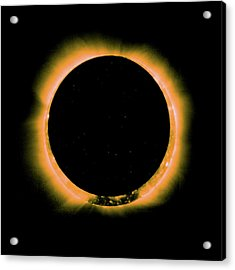 Solar Eclipse By Hinode Observes, Nasa 5 Acrylic Print