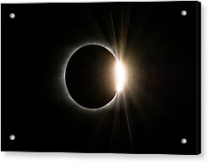 Acrylic Print featuring the photograph Solar Eclipse Diamond Ring by Lori Coleman