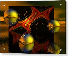 Solar Eclipse Acrylic Print by Sandra Bauser Digital Art