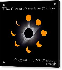 Solar Eclipse Stages Acrylic Print