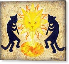 Solar Feline Entity Acrylic Print by John Deecken
