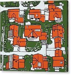 Solar Panel Houses Acrylic Print