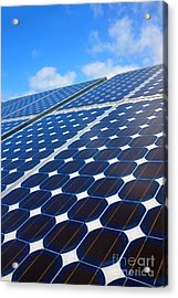 Solar Pannel Acrylic Print by Carlos Caetano