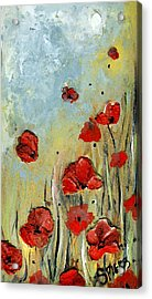 Sold Mom And Poppies Acrylic Print by Amanda  Sanford