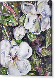 Sold Steal Magnolias Acrylic Print by Amanda  Sanford