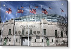 Soldier Field Acrylic Print by David Bearden
