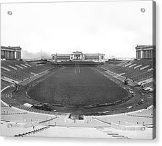 Soldier Field In Chicago Acrylic Print by Underwood Archives