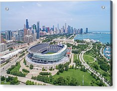 Acrylic Print featuring the photograph Soldier Field by Sebastian Musial