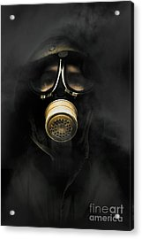 Soldier In Gas Mask Acrylic Print by Jorgo Photography - Wall Art Gallery