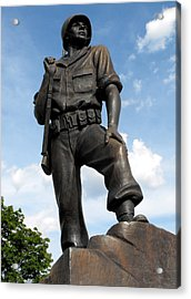 Soldier Acrylic Print by Jan  Tribe