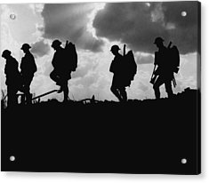 Soldier Silhouettes - Battle Of Broodseinde  Acrylic Print