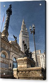 Soldiers' And Sailors' Monument Acrylic Print by At Lands End Photography