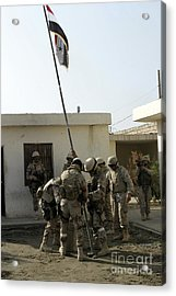 Soldiers From The Iraqi Special Forces Acrylic Print by Stocktrek Images