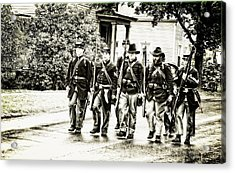 Soldiers Marching In Parade Acrylic Print