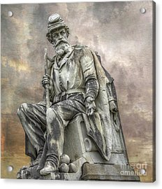 Soldiers National Monument War Statue Gettysburg Cemetery  Acrylic Print by Randy Steele