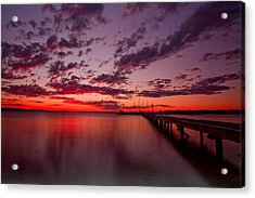 Soldiers Point Sunset Acrylic Print