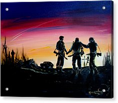 Soldiers Pray II Acrylic Print by Randall Easterling