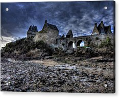 Solidor At Dusk Before A Storm Acrylic Print by Karo Evans