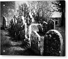 Solitary Cross At Fuerty Cemetery Roscommon Irenand Acrylic Print