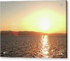 Solitary Sailboat Acrylic Print