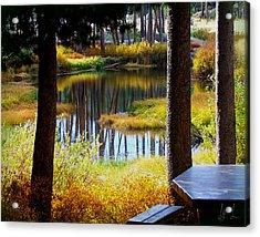 Solitude At Donner Pass Acrylic Print by S Lynn Lehman