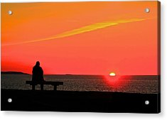 Solitude At Sunrise Acrylic Print