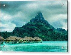 Solitude In Bora Bora Acrylic Print