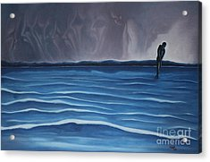Acrylic Print featuring the painting Solitude by Michael  TMAD Finney